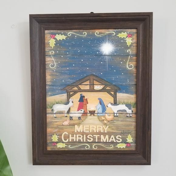 12x16 Nativity Scean Framed Pic